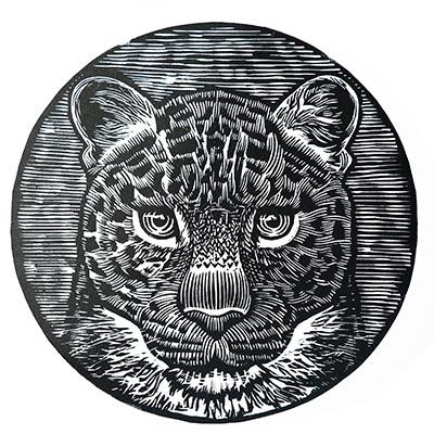 Jon Haste_Amur Leopard_Linocut a